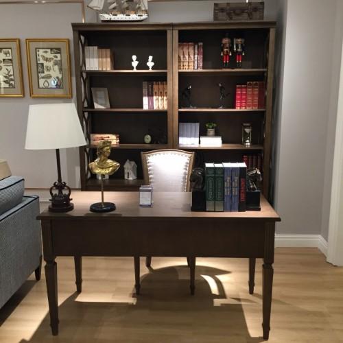 时尚美式深色书桌简约书桌-简约书桌711410