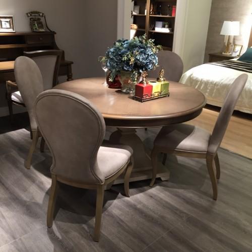 时尚美式深色圆餐桌桌面简约圆餐桌桌面-圆餐桌桌面710361