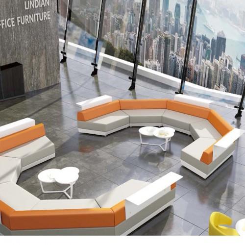 异形办公沙发厂家直销大厅等候沙发LD0067#