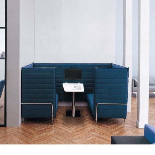 轻奢商务洽谈隐私高背办公沙发定制厂家LD0068#