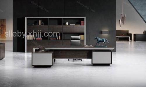 香河现代板式老板桌生产厂家 盛隆林尔博亚板式家具定制直销