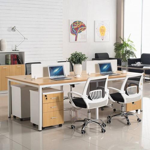 现代板式四人位职员办公桌02
