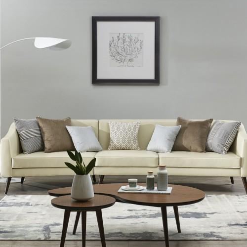 意式轻奢软皮三人位沙发极简时尚米色三人位沙发_3105  1