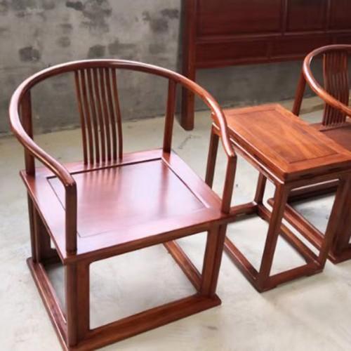 新中式老榆木太师椅实