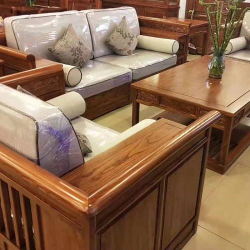 榆木中式沙发客厅实木