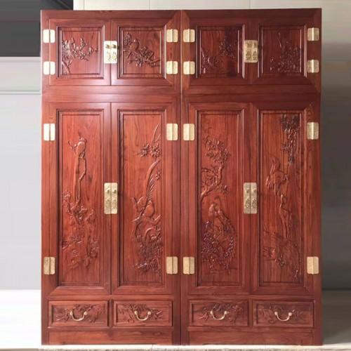 新中式实木顶箱柜卧室