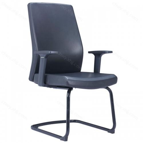 工厂批发超纤皮会议室办公椅简约弓形椅子 Z-D285#