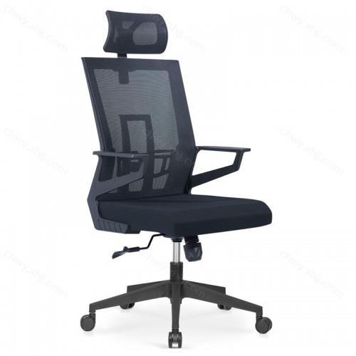 工厂直营批发网布靠背椅子 升降转椅带头枕 Z-E282H#