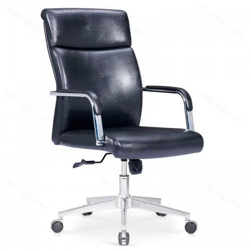 皮艺电脑椅家用办公椅人体工学升降转椅职员椅 B-E201#
