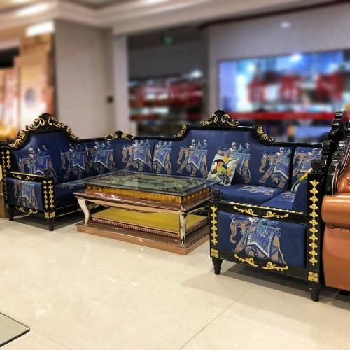 夜总会所欧式新古典沙发组合别墅酒店客厅KTV沙发茶几组合 SF-58