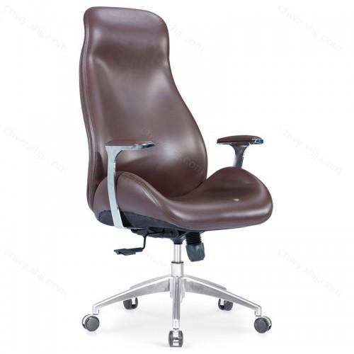 现代简约皮艺高背电脑椅办公职员椅会议室带靠枕 Y-A316#