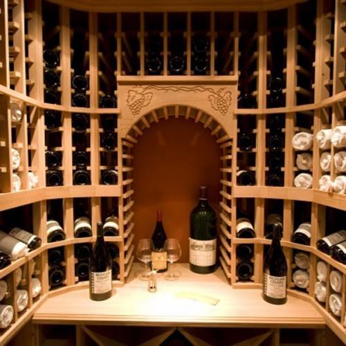 厂家直营纯实木酒柜酒窖红酒展示柜别墅家具整体定制 JJ-19