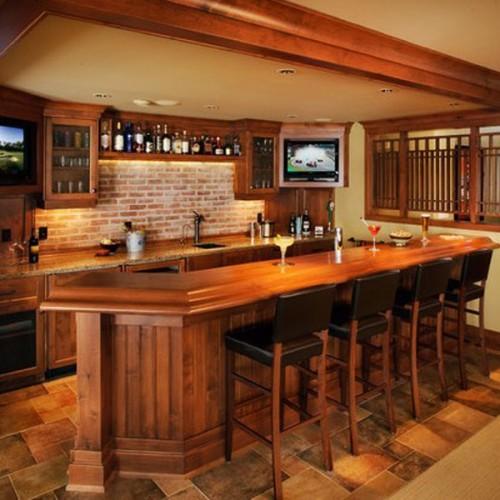 工厂定制法式欧式美式整木别墅实木酒柜酒窖橱柜 JJ-22