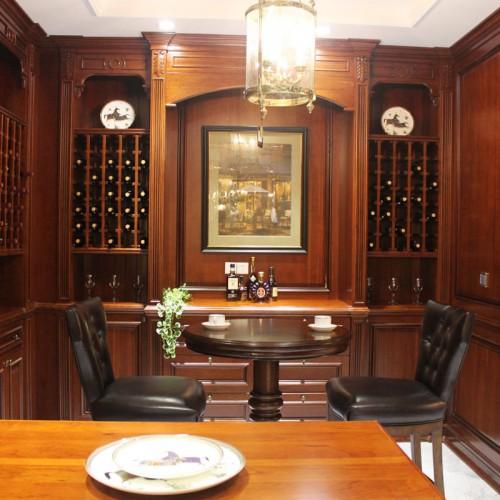欧式美式别墅家具实木酒柜酒窖红酒架陈列柜展示柜定制 JJ-26