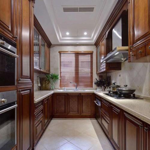厂家整体橱柜定制定做厨房厨柜美式欧式中式实木橱柜 CG-04