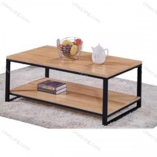 现代茶几实木美式茶几复古铁艺茶几北欧客厅茶几简易桌子 6#
