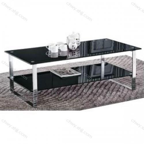 批发 钢化玻璃长方形简易客厅办公小铁艺茶几 C-013#