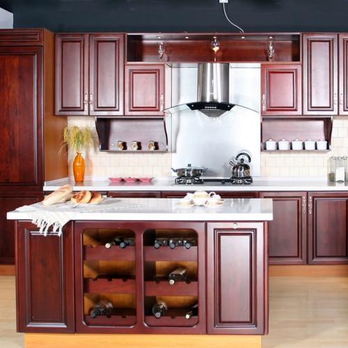 整体橱柜定做环保厨房现代简约实木普清橱柜定制 CG-13