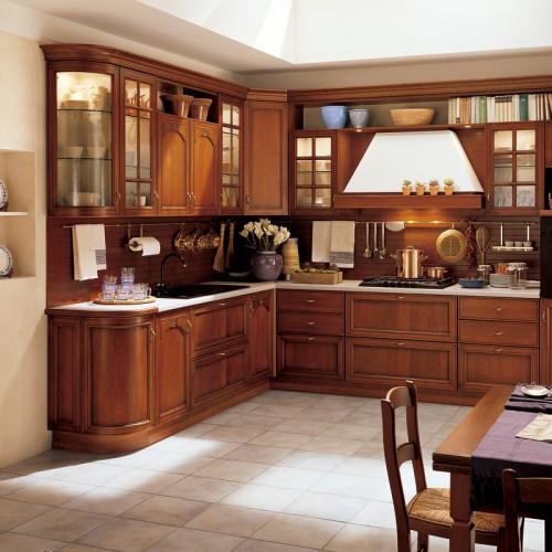 工厂橱柜定制厨房厨柜欧式实木开放式L型U型一字型橱柜 CG-21