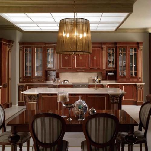 曼迪诺实木整体厨房橱柜定制橱柜别墅厨房橱柜定做 CG-28