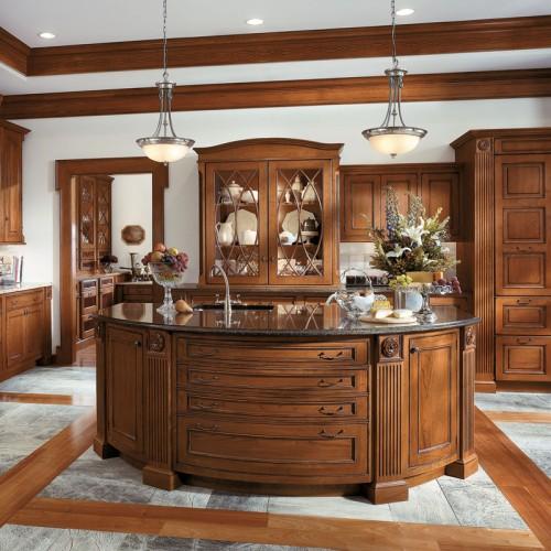 整体厨房实木橱柜定制别墅高端橱柜装修开放式橱柜定做 CG-31