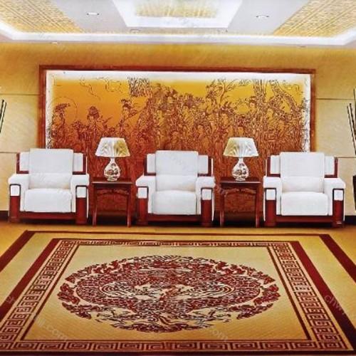 贵宾沙发单人位贵宾接待沙发布艺单人位会议沙发  300#