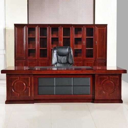 办公家具老板桌总裁桌油漆大班台简约办公桌椅组合  BT-01