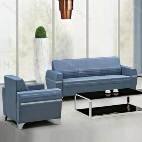 北欧风格沙发头蓝色小户型客厅整装商务办公沙发 现代5#