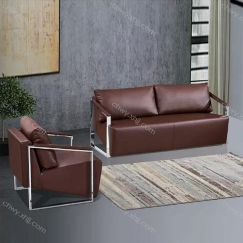 时尚现代办公沙发皮艺会客沙发商务办公沙发 8046#