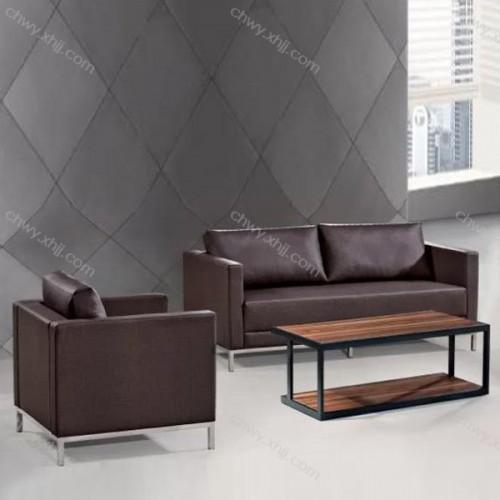 钢架休闲沙发定制 现代真皮办公沙发厂家直销 18