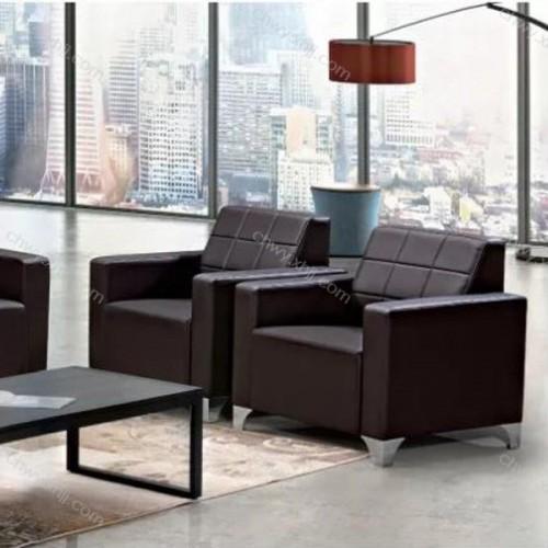 现代休闲沙发办公厂家 皮质办公沙发供应商 19