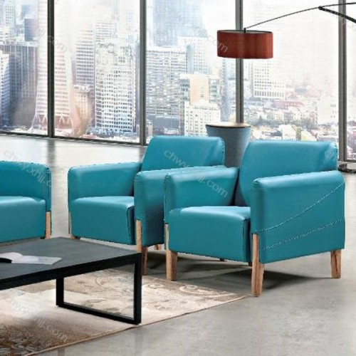 定制北欧现代办公沙发真皮接待沙发 3