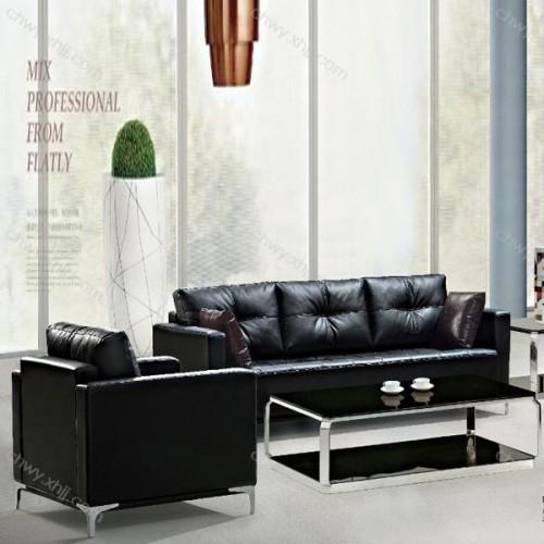 香河现代沙发供应商 真皮办公沙发厂家8