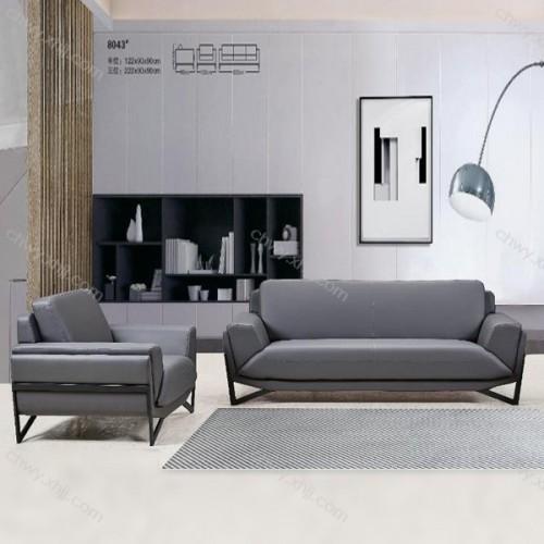 新款现代办公沙发商务接待沙发8043