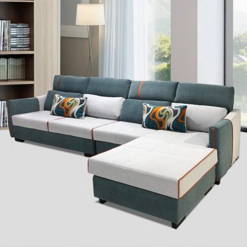 贝宝斯现代时尚简约小户型客厅休闲沙发布艺转角沙发 SF-02