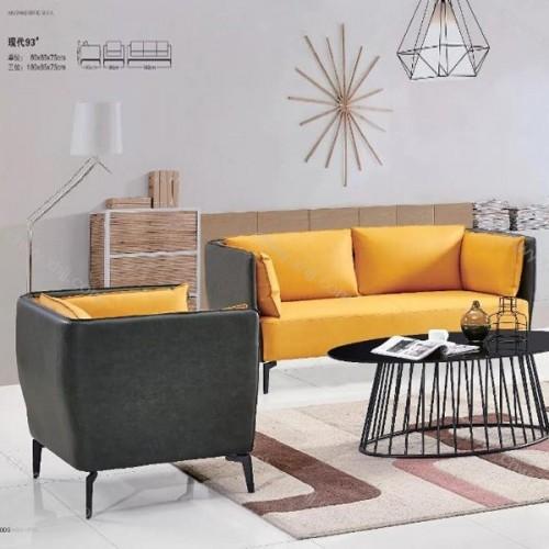 时尚简欧风格办公沙发洽谈休闲沙发 现代93#