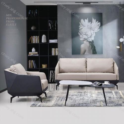 办公沙发商务接待小型沙发现代简约会客沙发 现代90#