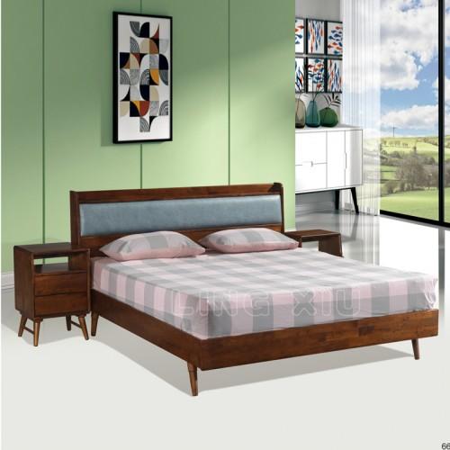 北欧风格床日式家具现代简约双人1.8m主卧床  6#