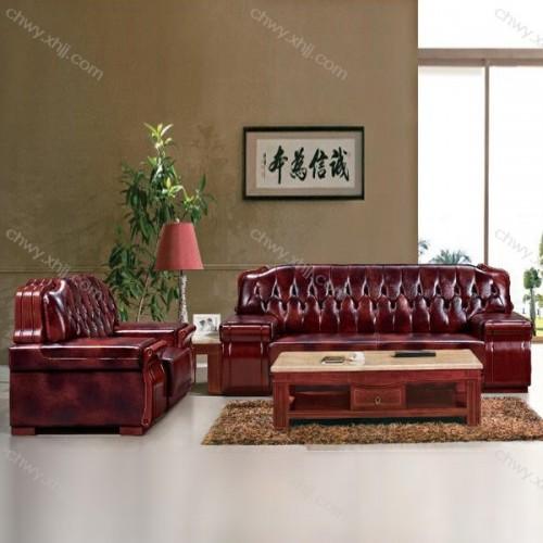 老板办公室洽谈会客沙发商务皮艺沙发 BGSF-01#