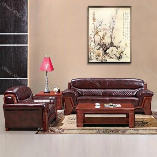办公沙发中式洽谈会客商务接待沙发 BGSF-04#