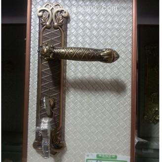 香河刘氏锁具 门锁室内 卧室房门锁 三件套简约 (3)