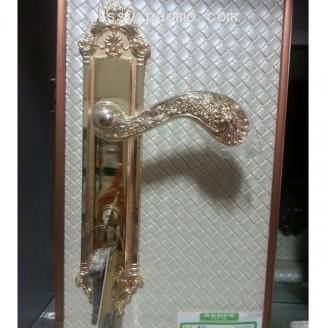 卧室门锁 室内门锁套装 静音实木门 (3)