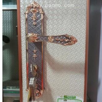 室内门锁卧室静音房门锁欧式木门锁把手 (3)