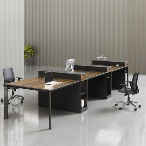 板式职员屏风电脑桌 办公胶板桌 01#