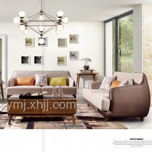 时尚布艺沙发组合1+2+3+茶几  BO-308S