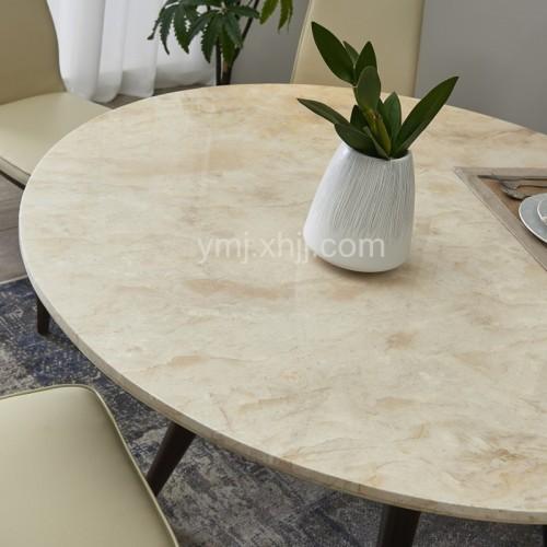 高档轻奢时尚理石面大圆餐桌意式极简理石面园餐台_33717
