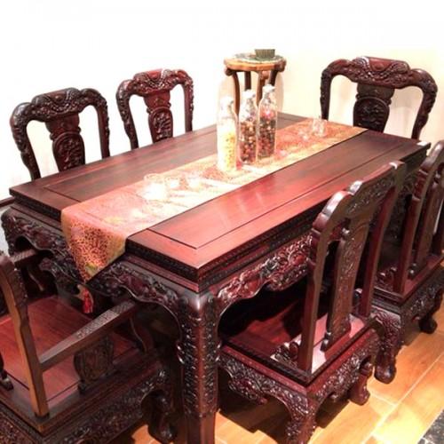 红木餐桌长方形饭桌中式古典实木家具01
