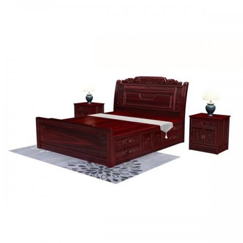 仿古中式红木床实木床双人床价格01