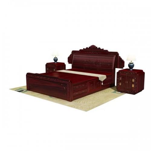 主卧双人床厂家 仿古红木1.8米大床定制批发05