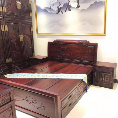 工厂直营实木双人床中式卧室红木大床10